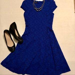 Alfani Royal Blue Lace Dress EUC Size 4 Petite